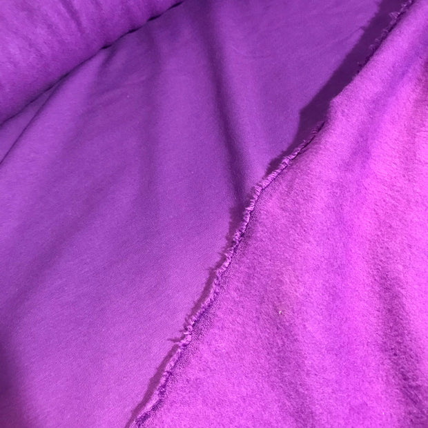 Bamboo Cotton Stretch Fleece - Purple Fire - 1/2 meter - FABCYCLE shop