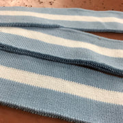 Ribbed Knit - Premade - Baby Blue with White Stripe - FABCYCLE shop