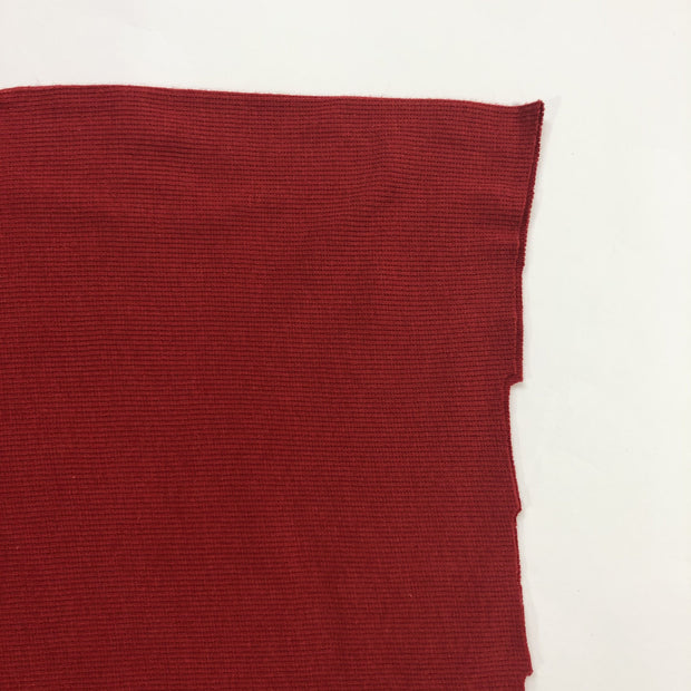 Strawberry Jam - 2x2 Bamboo Cotton Rib Knit - Muted Red - 1/2 Meter