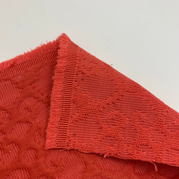 Crab Shell - Jacquard Woven - Red - 1/2 Meter