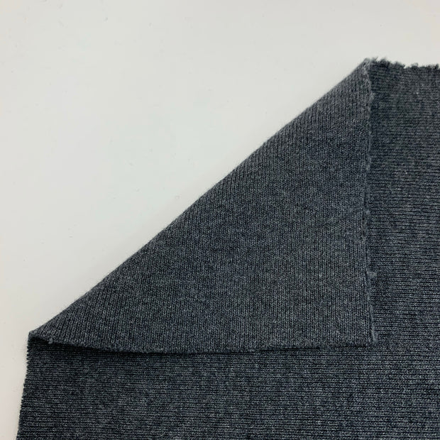 Pewter Cauldron - Rib Knit - Dark Grey - 1/2 Meter