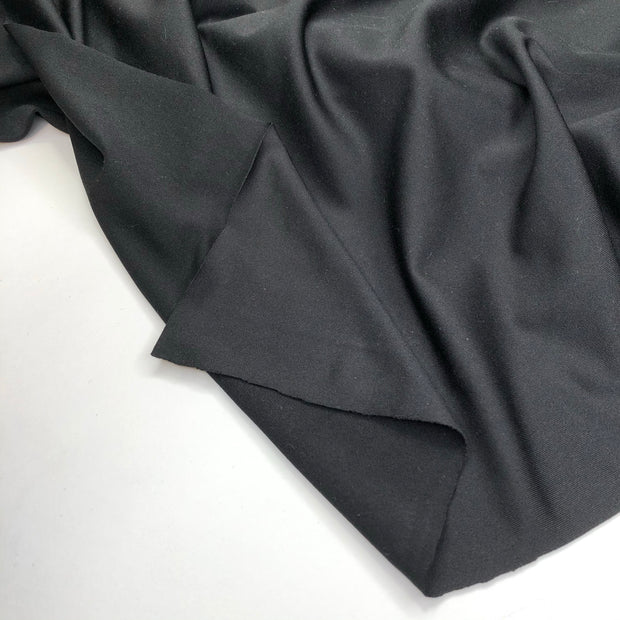 Party's Over! - Polyester Spandex Knit - Black - 1/2 Meter