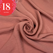 December 18: Santa's Nose - Polyester Crepe Woven - Warm Pink - 1/2 Meter