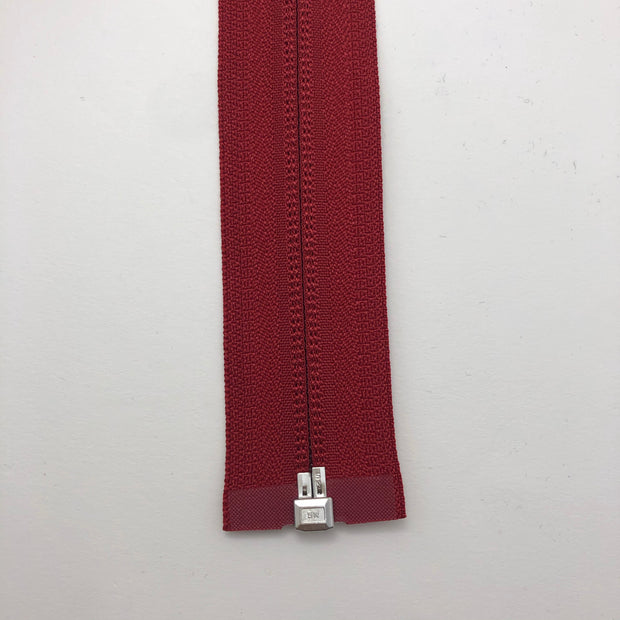 "24"" Invisible Coil Zipper -  Seperating - Red - Individual"