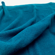 Bamboo Cotton 2X2 Rib - Knit - Napoleanfish - Teal Blue - 1/2 Meter & Bundles