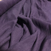 Bamboo Cotton Stretch Fleece - Purple Rich - 1/2 meter - FABCYCLE shop