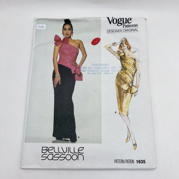 Sewing Pattern Vogue Bellville Sassoon 1635