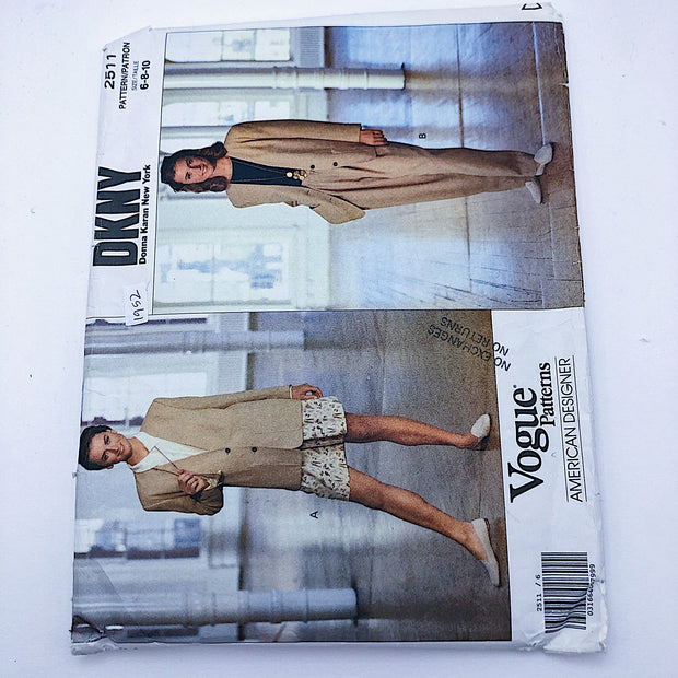 Sewing Pattern - Women - DKNY - Vogue 2511