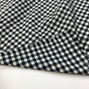 Giddy Gingham - Cotton Woven - Black / White - 1/2 Meter