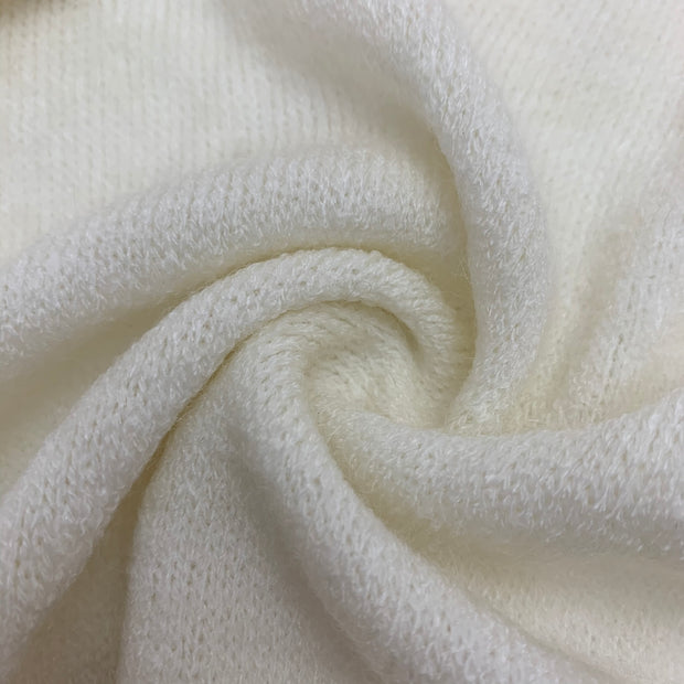Super Fluff - Lunar White - Knit - 1/2 Meter