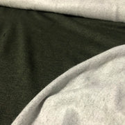 Bamboo Cotton Stretch Fleece - Forest Green - 1/2 meter - FABCYCLE shop