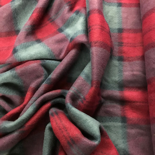 Uber Cozy Plaid - Micro Fleece  - 1/2 meter - FABCYCLE shop