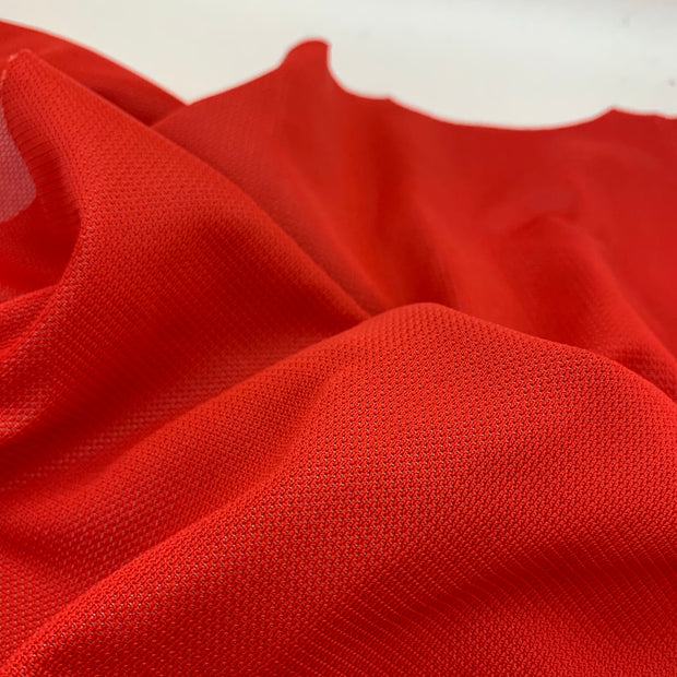 Poppy Red Mesh - Synthetic Woven - 1/2 Meter
