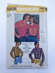 Sewing Pattern - Men & Women - Simplicity 5806