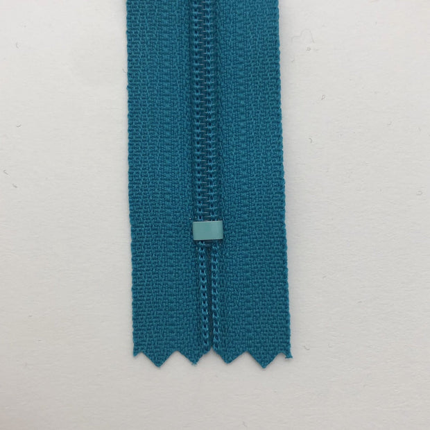 "8"" Coil Zipper -  Closed End - Turqouise - Individual"