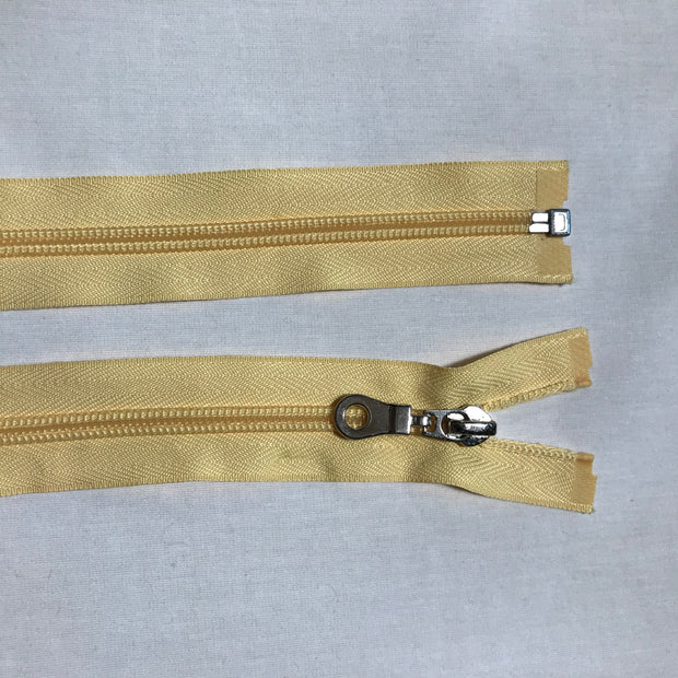 Coil Zipper - Pale Yellow