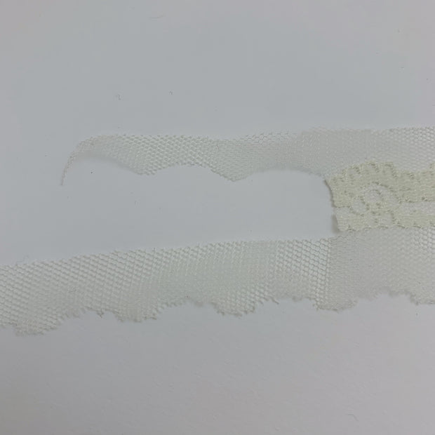 "2"" Mesh Lace Trim - Non Stretch - Pale Yellow - 1.64M Bundle"