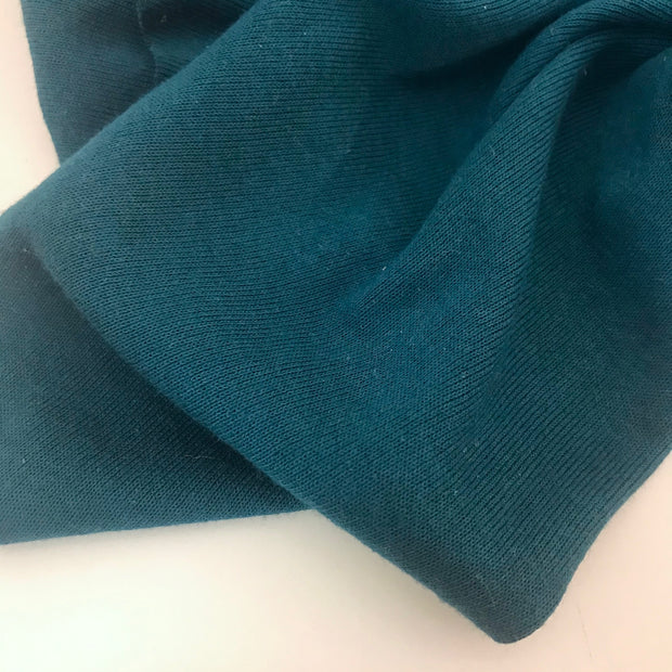 Cotton Tubular - Ribbed Knit - Dark Teal - 1/2 Meter