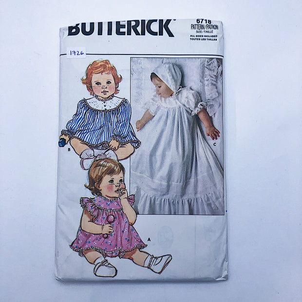 Sewing Pattern - Kids - Butterick 6718