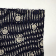 Full Moon Stitches - Polyester Cotton Knit - Navy / Cream - 1/2  Meter