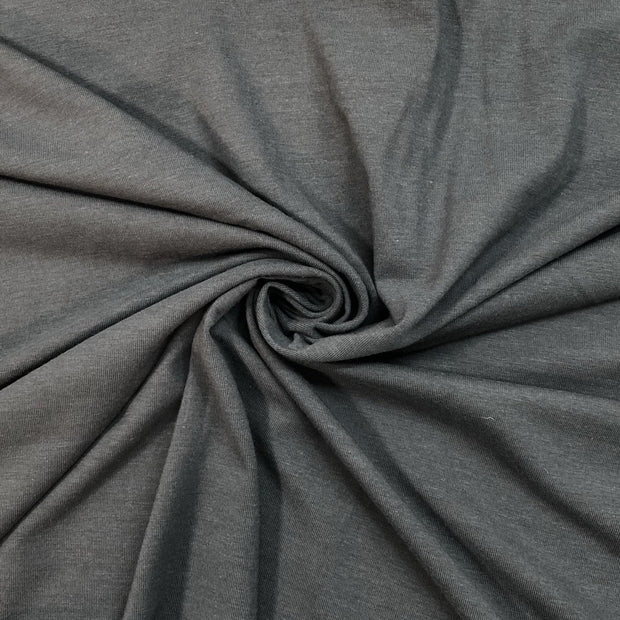 Spanish Grey - Bamboo Jersey Knit - Grey - 1/2 Meter
