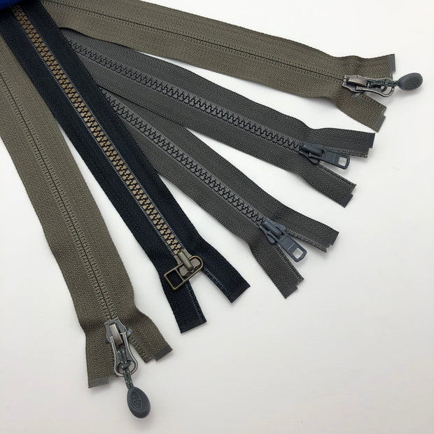 Assorted Styles - Separating - Black / Grey / Olive - 5 Pack