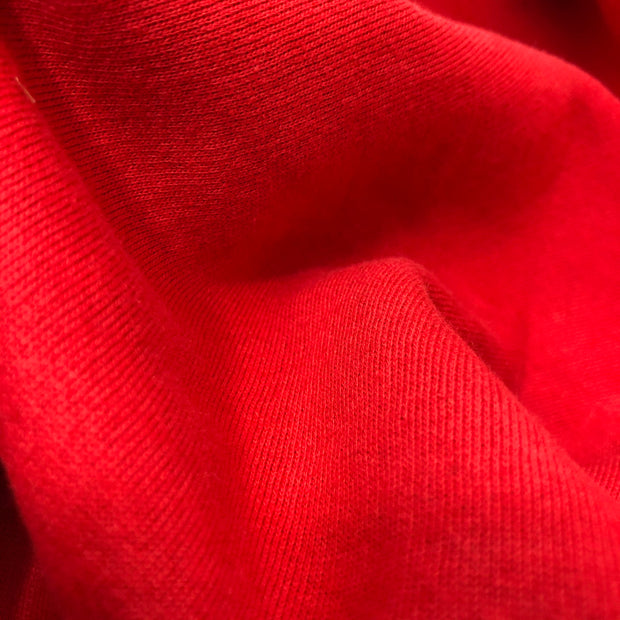 Fire hydrant Red - Cotton & Poly Fleece Jersey - 1/2 Meter