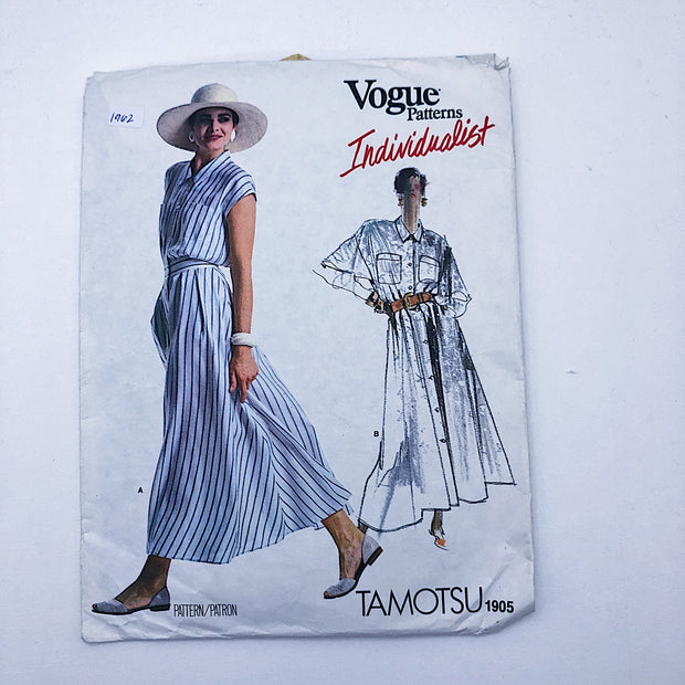 Sewing Pattern - Women - Tamotsu - Vogue 1905