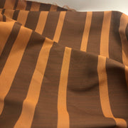 Natural Autumn - Poly Woven Upholstery - Orange & Brown - 1/2 Meter