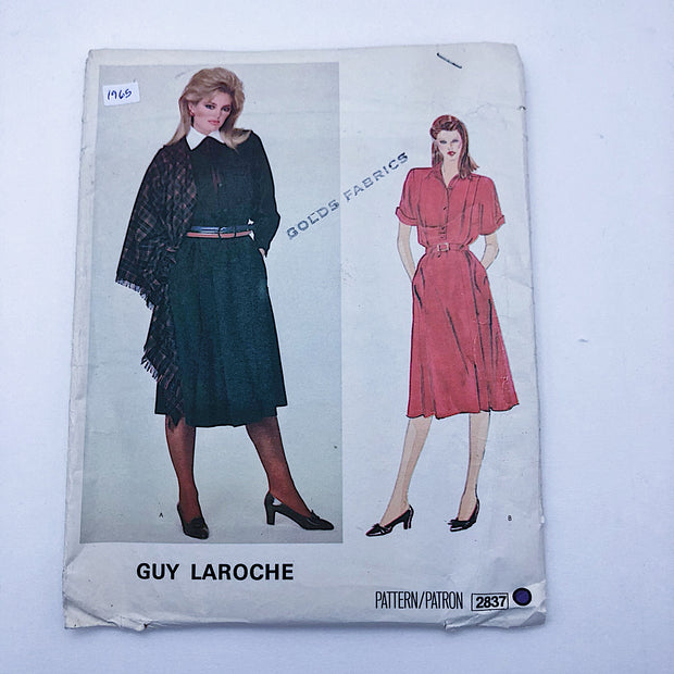 Sewing Pattern - Women - Guy Laroche - Vogue 2837