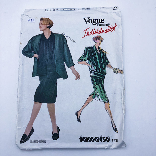 Sewing Pattern - Women - Tamotsu - Vogue 1737