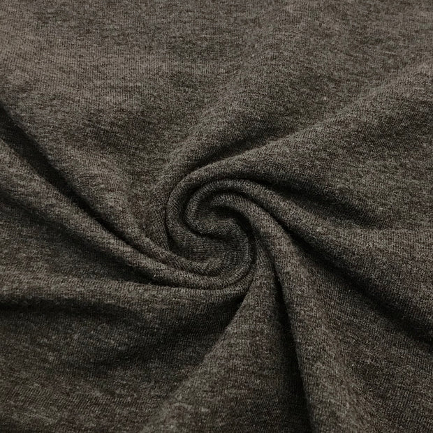Heather Dark Grey- Bamboo/Cotton - French Terry - 165cm Bundle - FABCYCLE shop