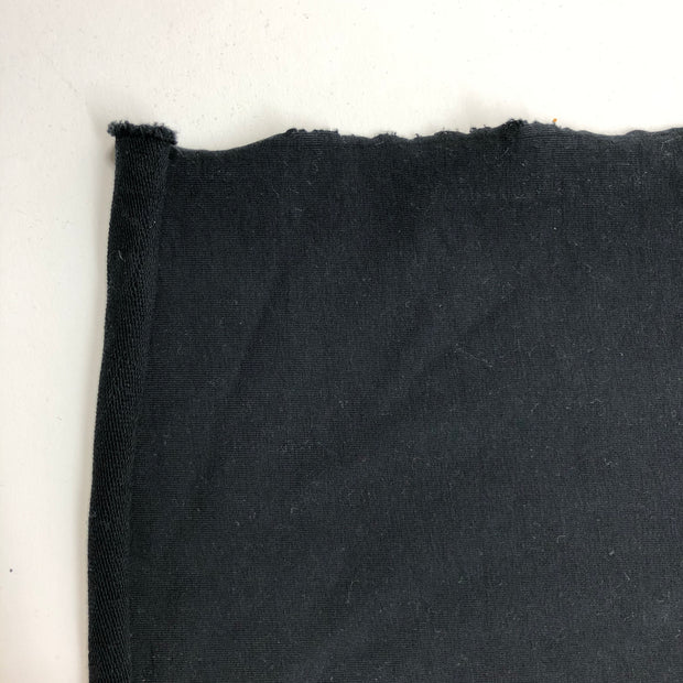 All Nighter >:) - Cotton Spandex French Terry - Black - 1/2 Meter