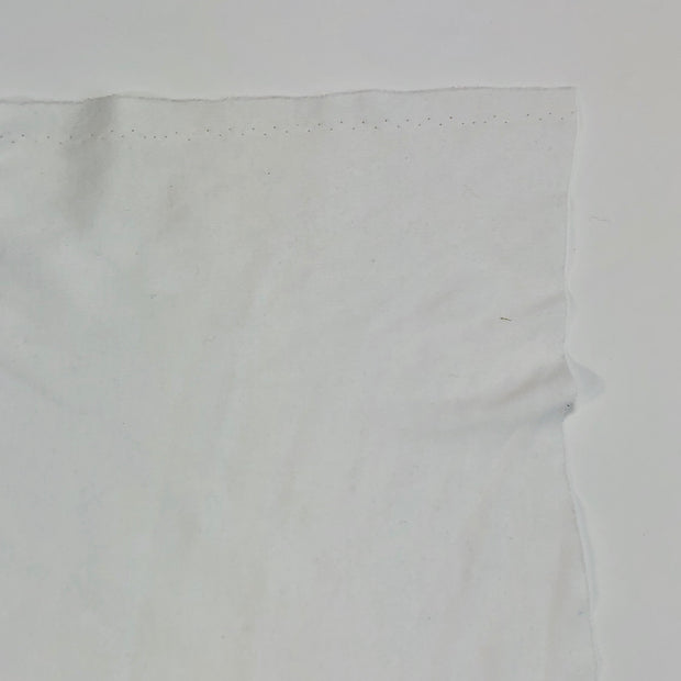 Bright White - Cotton Polyester Jersey - White - 1/2 Meter