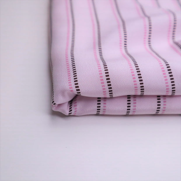 Pink It Pinstripe - Poly Woven - Pink/Brown - 1.6M Bundle