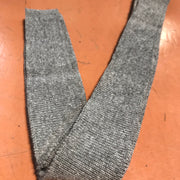 Narrow Ribbed Knit - Premade - Soft Grey with White Specks - FABCYCLE shop