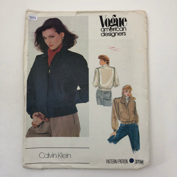 Sewing Pattern - Women - Calvin Klein - Vogue 2758