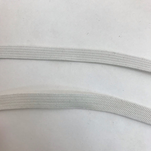 10mm Knit Elastic - White - 1M