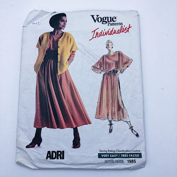 Sewing Pattern - Women - Adri - Vogue 1985