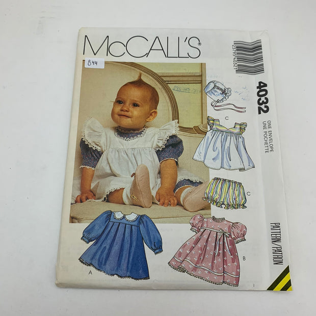 Sewing Pattern McCall's 4032