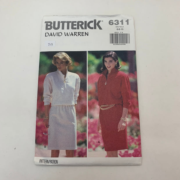 Sewing Pattern Butterick 6311