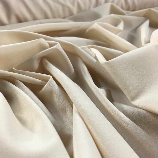 Cream Puff - Crepe Chiffon - Off White  - 1/2 meter - FABCYCLE shop