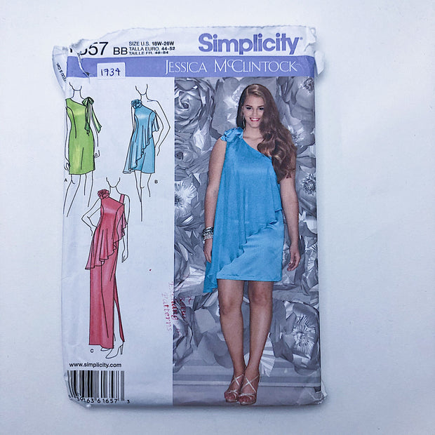 Sewing Pattern - Women - Jessica McClintock - Simplicity 1657