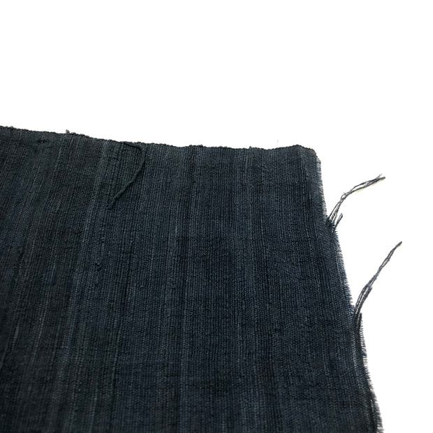 Textured Navy - Hemp & Acrylic Blend - Woven - 1/2 Meter