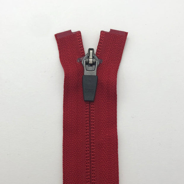 "23.5"" Invisible Coil Zipper -  Seperating - Red - Individual"
