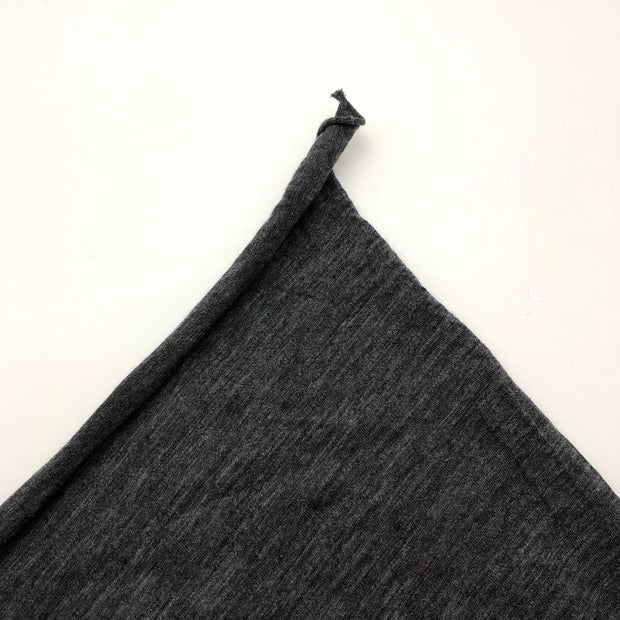 Beach Charcoal - Bamboo Merino Wool Jersey Knit - Dark Grey - 1/2 Meter
