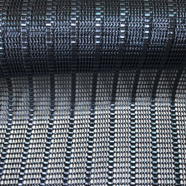December 27:  Detroit Rock City - Polyester Knit - Metallic Black - 1/2 Meter