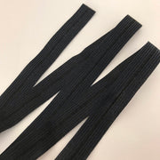 15mm Knit Fold Over Elastic - Black - 1M