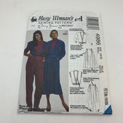 Sewing Pattern McCall's 4986