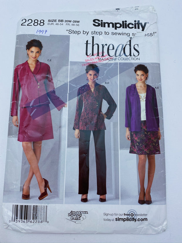 Sewing Pattern - Women - Simplicity 2288